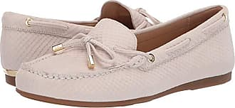 Michael Kors Sutton Moc (Light Cream Embossed Snake Nubuck/Nappa) Womens Shoes
