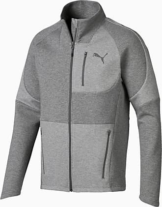 Puma Evostripe Move Mens Jacket, Medium Grey Heather, size 2X Large, Clothing