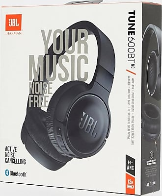 JBL T600 wireless noise cancelling on-ear headphones in black