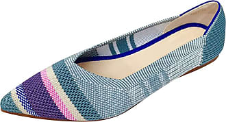 Daytwork Ballet Flat Pointed Ballerina - Casual School Pumps Classic Prom Slip on Comfort Loafers Dress Boat Shoes Blue