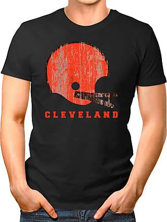 OM3 Cleveland-Helmet - T-Shirt | Mens | American Football Shirt | M, Black