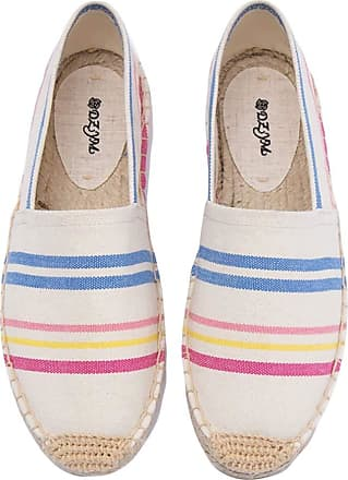 ICEGREY Womens Causal Loafer Flat Slip On Espadrille Multicoloured 2 UK 4.5