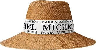 Maison Michel Kate logo-embroidered sun hat - NEUTRALS