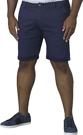 Duke London Duke Mens Calvin Micro Print Stretch Cotton Chino Shorts - Blue - 52
