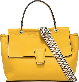 Gianni Chiarini Gianni CHIARINI Womens handbag hammered leather yellow, one compartment with adjustable and removable shoulder strap. BS 7892.BIOSA BORSE