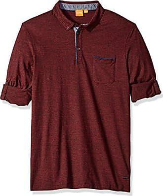 c1ac5f62 HUGO BOSS BOSS Orange Mens Patcherman Long Sleeved Polo Shirt, Open red  Medium