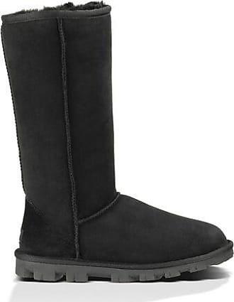UGG Womens Essential Tall in Black, Size 3, Shearling
