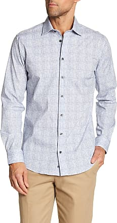 14th & Union Patterned Long Sleeve Trim Fit Shirt