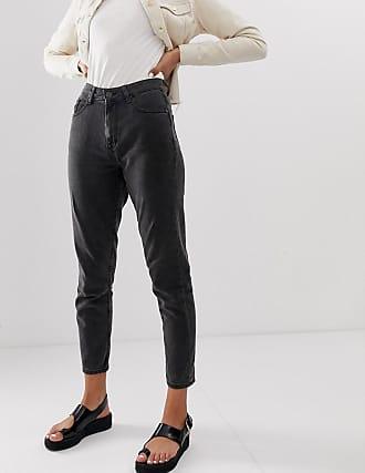 Noisy May Mom jeans alla caviglia-Nero