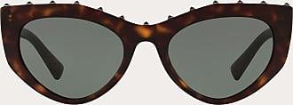 Valentino Valentino Occhiali Occhiale Da Sole Cat-eye In Acetato Con Stud Donna Marrone OneSize