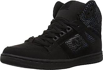 DC Womens Pure HIGH-TOP SE Skate Shoe, Silver/Black, 5.5 Medium US