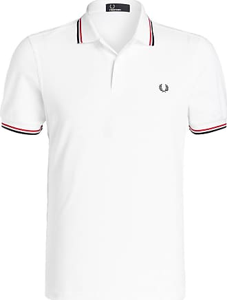 Fred Perry Piqué-Poloshirt - /WEISS/ ROT/ NAVY