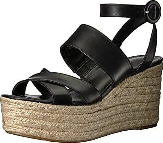 375be42f2591 Nine West Womens KUSHALA Leather Wedge Sandal Black