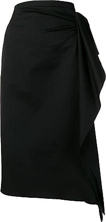Rochas draped pencil skirt - Preto