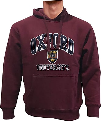 Oxford University Quality Embroidered Hooded Sweatshirt (XX-Large, Brugundy)