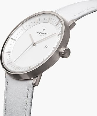 Nordgreen Philosopher - Silver | White Leather - 36mm / Silver