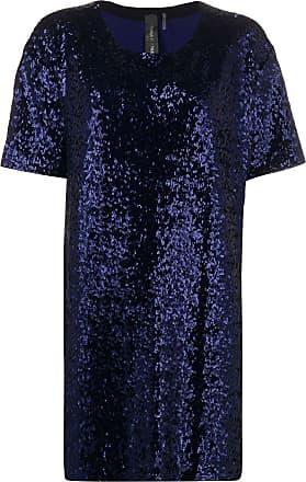 Norma Kamali Vestido mangas curtas - Azul