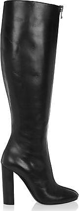 Tom Ford Tom Ford Woman Zip-detailed Leather Knee Boots Black Size 36.5