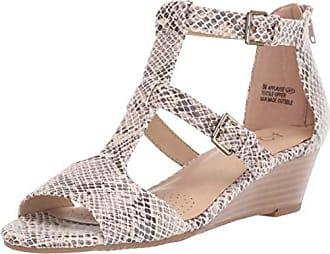 Aerosoles A2 Womens Applause Wedge Sandal Bone Snake 10.5 M US