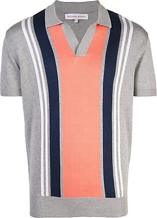Orlebar Brown Camisa polo decote V - Cinza