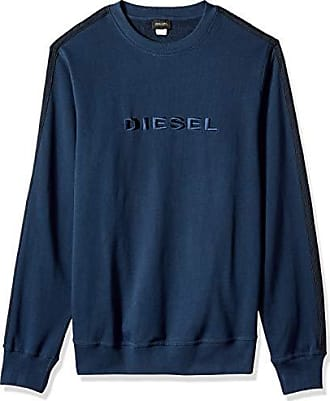 Diesel Mens UMLT-Willy Sweat-Shirt, Navy Blue, M
