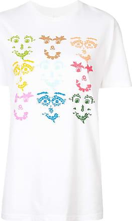 Rosie Assoulin Camiseta com estampa Face - Branco