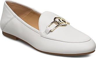 Michael Kors Tracee Loafer Loafers Låga Skor Vit Michael Kors Shoes