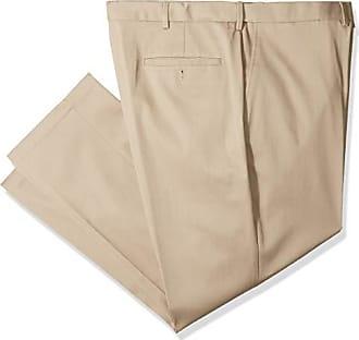 Haggar Mens B&T Premium No Iron Khaki Classic Fit Flat Front Casual Pant, 56Wx32L