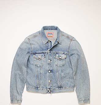 Acne Studios Acne Studios 1998 Light Blue Trash Light blue Slim fit denim jacket