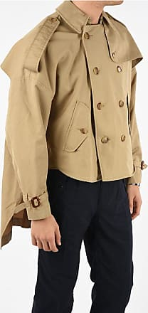 R13 Short Double Breasted TUCK Trench Größe M