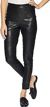 Splendid Womens Full Length Long Legging Bottom, Faux Leather Black, Large