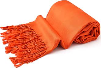 CJ Apparel Orange Solid Colour Design Shawl Scarf Wrap Pashmina Seconds **NEW**(Size: One Size)