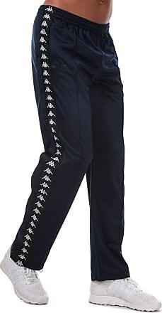 Kappa Mens 222 Banda Astoria Snaps Retro Tracksuit Pants - Blue/Black - XS