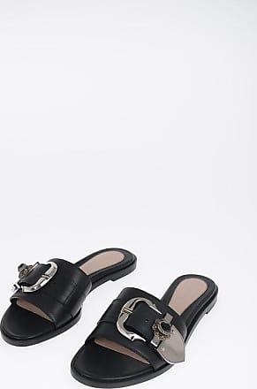 Alexander McQueen Leather Sandals with Jewel Größe 38,5