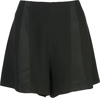 Kiki De Montparnasse high waisted tuxedo shorts - Black