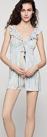 BCBGeneration Textured Stripes Cutout Romper