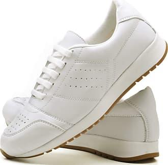 Juilli Tênis Sapato Casual Com Cadarço Feminino JUILLI 1102DB Tamanho:38;cor:Branco;gênero:Feminino
