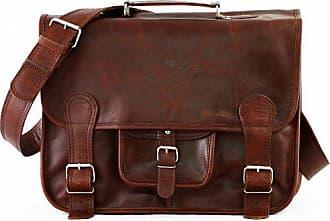 21c5988d972c8 PAUL MARIUS Schulranzen Größe L (A4) Vintage Ledertasche Umhängetasche  Herbst braun LE CARTABLE