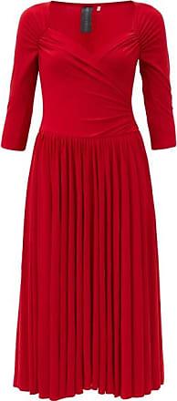Norma Kamali Sweetheart-neck Jersey Midi Dress - Womens - Red