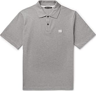 Acne Studios Elton Mélange Cotton-piqué Polo Shirt - Gray