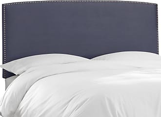 Skyline Furniture Nail Button Premier Border Upholstered Headboard Premier Lazuli Blue, Size: Queen - 562NB-PWPRMLZLBL