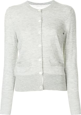 Onefifteen lace panel buttoned cardigan - Grey