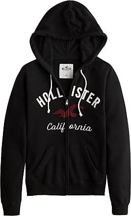 Hollister Sweatjacke TECH CORE schwarz / weiß / dunkelrot