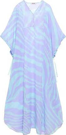 b4393f6bfe6 Roberto Cavalli Roberto Cavalli Woman Zebra-print Silk-voile Kaftan  Lavender Size 42