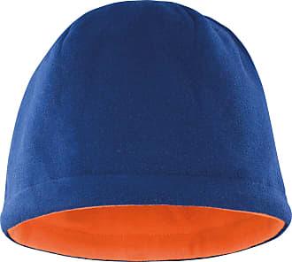 Result Unisex Winter Essentials Reversible Fleece Skull Hat (One Size) (Navy/Orange)
