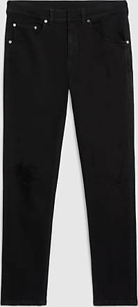 Neil Barrett Extreme Distressed Black Drill Denim Skinny Jean