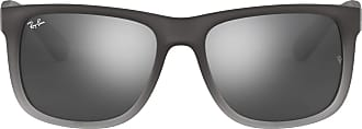 Ray-Ban RB4165 Justin Wayfarer Non-Polarized Sunglasses, Grey (852/88 Transparent Grey ), Large (Manufacturer Size: 54)