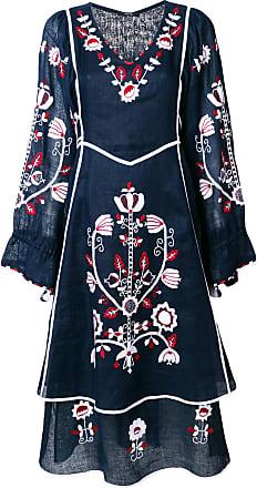 Vita Kin Vestido de linho floral - Azul