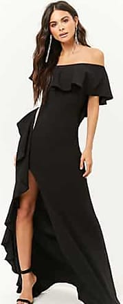 Forever 21 Forever 21 Ruffle Trim Gown Black