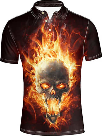 Hugs Idea Modern Sport Shirt Cool Punk Rock Short Sleeves Fashion T-Shirt for Men